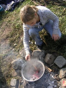 Koken in de natuur